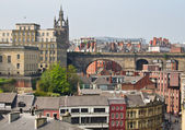 View of central Newcastle from Gateshead — Stock Photo