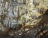 Stalactite formations in Nerja Caves, Spain — Stock Photo