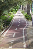 Bicycle way in Malaga, Spain — Stock Photo