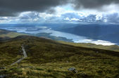 Loch Lomond from the upper slopes of Ben Lomond, Scotland — Stock Photo