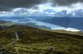 Loch Lomond from the upper slopes of Ben Lomond, Scotland — Stock Photo