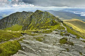 View south from the summit of Ben Lomond, Scotland — Stock Photo