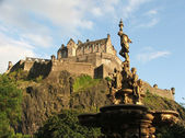 Edinburgh Castle from Princes Street Gardens — Stock Photo