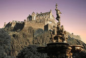 Edinburgh Castle at sunset — Stock Photo