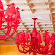 Red chandelier — Stock Photo