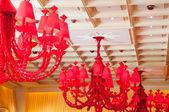 Lampadario rosso — Foto Stock