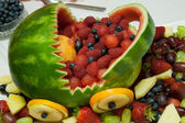 Fruits basket from watermelon — Stock Photo