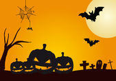 Halloween pompoenen — Stockvector