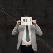 Economy crash - Ask help — Stock Photo