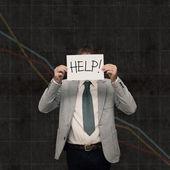 経済クラッシュ - 助けを求める — ストック写真