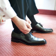 Stock Photo: Groom shoes
