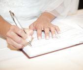 Svatební smlouva — Stock fotografie