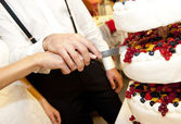 Cut the cake — Stock Photo