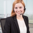 Businesswoman customer service — ストック写真