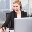 Businesswoman customer service — Stock Photo