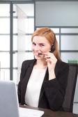 Businesswoman customer service — Stock Photo
