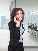 Woman at cellphone — Stock Photo