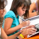 Teenagers doing schoolwork. — Stock Photo