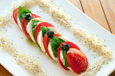 Italian caprese salad. — Stock Photo