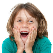 Boy with surprising face expression. — Stock Photo