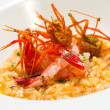 Risotto seafood rice with prawns. — Stock Photo