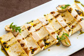 Close up of grilled tofu. — Stock Photo