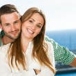 Portrait of attractive young couple. — Stock Photo