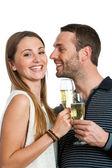 Hansome kaç kadeh şampanya ile yapma. — Stok fotoğraf