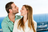 Young couple playing around. — Stock Photo