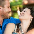 In love couple smiling at each other. — Stock Photo