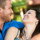 I love par ler mot varandra. — Stockfoto