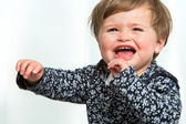 Toddler crying. — Stock Photo