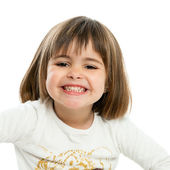 Sweet girl showing teeth. — Stock Photo