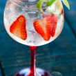 Gin tonic with strawberries. — Stock Photo #24164263