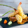 Shrimp tempura. - Stock Photo