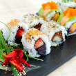 Selection of uramaki pieces. — Stockfoto
