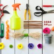 Gardening and florist tools. — Stock Photo