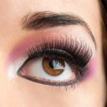 Macro close up of female eye. — Stock Photo