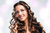 Beauty portrait of attractive brunette. — Stock Photo
