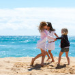 Children playing game on beach. — Stock Photo #26854283