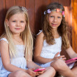 Portrait of youngsters with tablet and smart phone. — Stock Photo #27652835