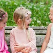 Girl friends having laugh in park. — Stock Photo #29317445