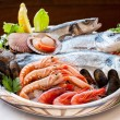 Appetizing seafood platter. — Stock Photo #30507487