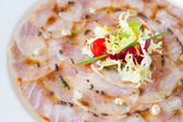 Close up of cod carpaccio. — Stock Photo
