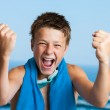 Victorious teen swimmer. — Stock Photo #30958457