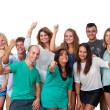 Stockfoto: Group of students with positive attitude.