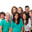 Foto Stock: Group portrait of young students.