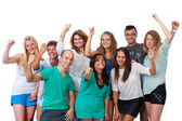 Group of students with positive attitude. — Stock Photo