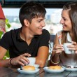 Teen couple enjoying coffee together. — Stock Photo #32788253
