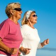 Senior women jogging. — Stock Photo